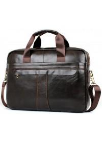 Мужская удобная кожаная коричневая сумка Cross 1800