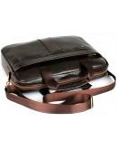 Фотография Мужская удобная кожаная коричневая сумка Cross 1800
