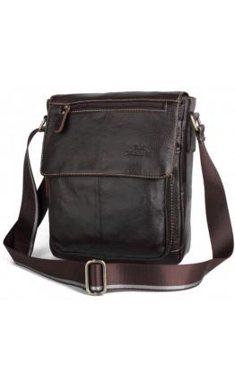 Удобная сумка мужская коричневая на плечо Cross 7700