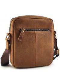 Коричневая сумка на плечо из натуральной кожи CS3070