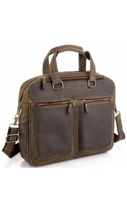 Вместительная мужская винтажная деловая сумка Tiding Bag D4-001G