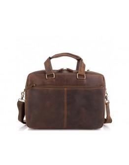 Сумка мужская кожаная винтажная деловая Tiding Bag D4-001R
