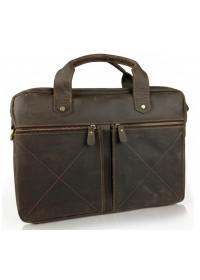 Сумка кожаная для ноутбука коричневая винтажная Tiding Bag D4-012R