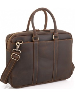 Винтажная коричневая мужская сумка Tiding Bag D4-023R