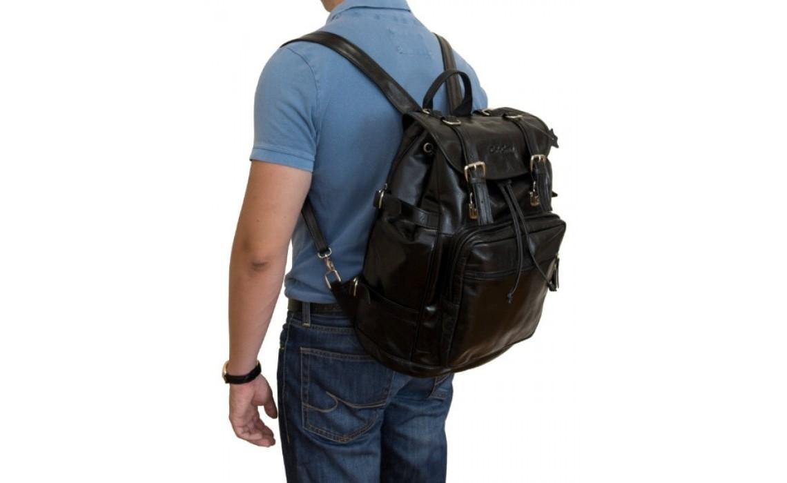Мужской кожаный рюкзак на одну или две шлейки. Как подобрать аксессуар