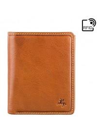 Мужской рыжий кожаный кошелек Visconti DRW41 Galen (Oak Tan)