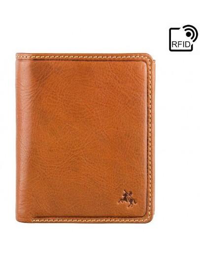 Фотография Мужской рыжий кожаный кошелек Visconti DRW41 Galen (Oak Tan)