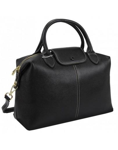 Фотография Женская черная сумка кожаная Riche F-A25F-FL-559WA