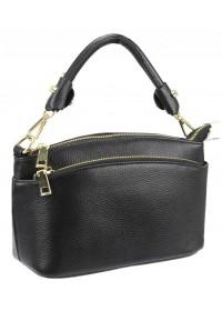 Женская кожаная черная сумочка Riche F-A25F-FL-6001WA