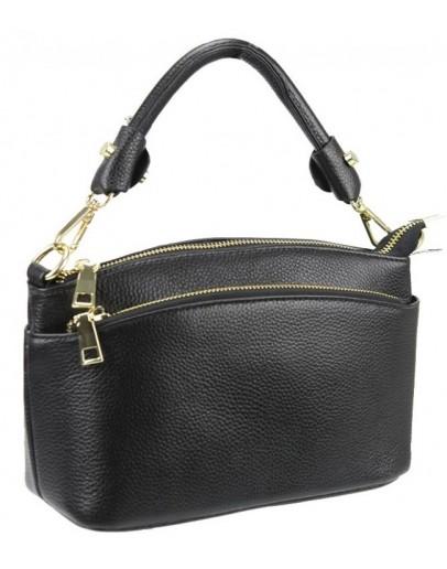 Фотография Женская кожаная черная сумочка Riche F-A25F-FL-6001WA