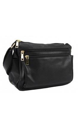 Женская черная сумка кожаная Riche F-A25F-FL-6008WA