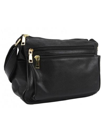 Фотография Женская черная сумка кожаная Riche F-A25F-FL-6008WA