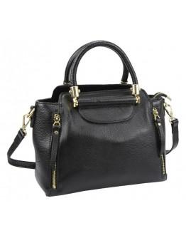 Черная сумка женская кожаная Riche F-A25F-FL-86002WA