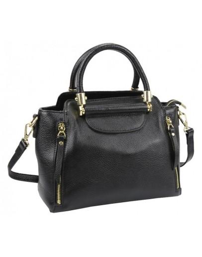 Фотография Черная сумка женская кожаная Riche F-A25F-FL-86002WA