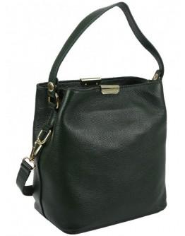 Женская зеленая кожаная сумка Riche F-A25F-FL-89012WGR