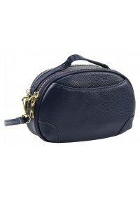 Женская кожаная синяя сумочка Riche F-A25F-FL-89019WBL