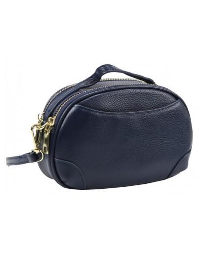Фотография Женская кожаная синяя сумочка Riche F-A25F-FL-89019WBL