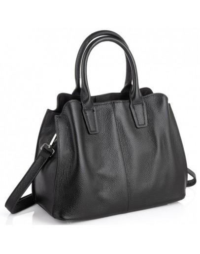 Фотография Черная женская кожаная сумка Riche F-A25F-FL-89031WA