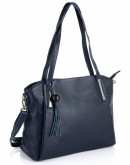 Фотография Синяя женская кожаная сумка Riche F-A25F-FL-89055WBL