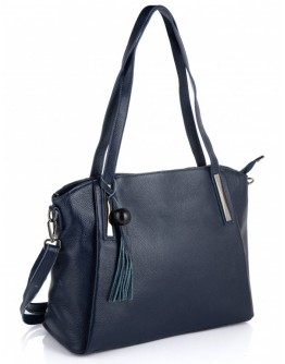 Синяя женская кожаная сумка Riche F-A25F-FL-89055WBL