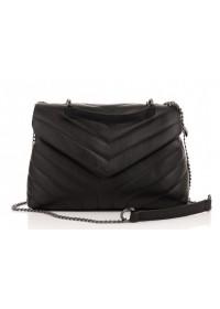 Черная женская кожаная сумка через плечо Grays F-FL-BB-5813A