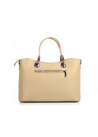 Женская бежевая кожаная сумка Grays F-S-BB-3589LB