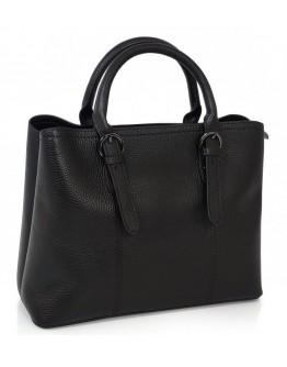 Женская черная кожаная сумка Grays F-S-CR3-99901A