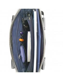 Серая мужская кожаная сумка формата А4 Vatto MK79 F13KAZ1