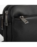 Фотография Кожаная черная сумка на пояс и на грудь Tarwa FA-0741-3md