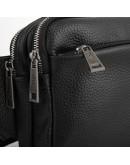 Фотография Черная сумка на пояс - бананка из кожи флотар Tarwa FA-0741-4lx