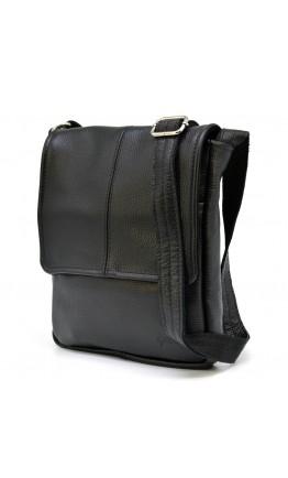 Черная мужская сумка на плечо кожаная Tarwa FA-1301-3md