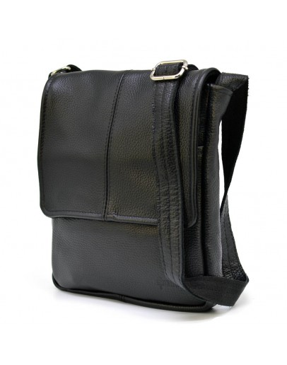 Фотография Черная мужская сумка на плечо кожаная Tarwa FA-1301-3md