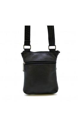 Маленькая черная кожаная сумка на плечо Tarwa FA-1342-3md