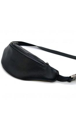 Черная сумка на пояс с темной молнией Tarwa FA-3035-3md
