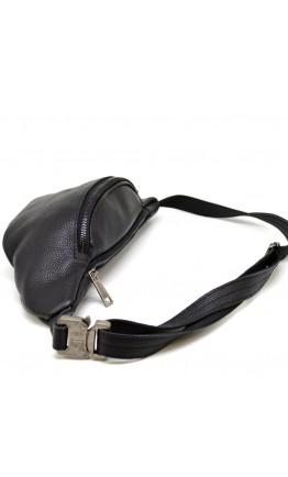 Черная мужска кожаная сумка на пояс Tarwa FA-3036-3md