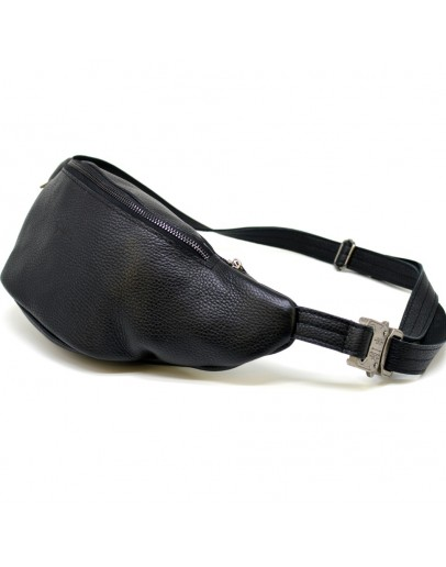 Фотография Черная мужска кожаная сумка на пояс Tarwa FA-3036-3md