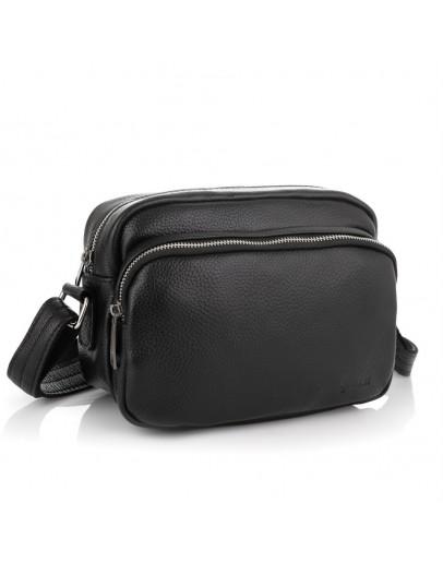 Фотография Черная мужская кожаная сумка на плечо Tarwa FA-60125-4lx