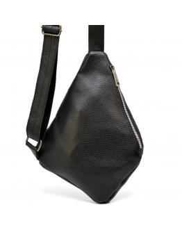 Черная мужская сумка на плечо - слинг Tarwa FA-6402-4lx