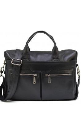 Мужская кожаная черная сумка, для ноутбука 77122A-7