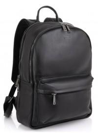 Черный рюкзак из прочной натуральной кожи Tarwa FA-7273-3md