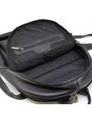 Фотография Кожаный черный рюкзак с белой ниткой TARWA FAw-7273-3md