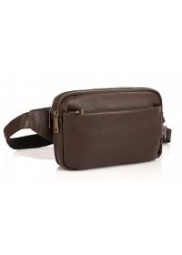 Коричневая сумка на пояс из кожи флотар Tarwa FC-0741-3md