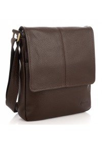 Коричневая мужская кожаная сумка на плечо Tarwa FC-1301-3md