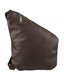 Коричневая мужская сумка на плечо - слинг Tarwa FCA-6402-4md
