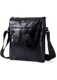 Мужская черная сумка из гладкой кожи Vintage FR0002-1