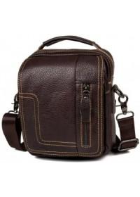 Коричневая сумка на плечо и в руку мужская fr0300