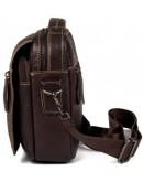 Фотография Коричневая сумка на плечо и в руку мужская fr0300