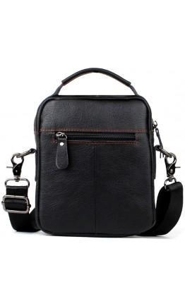 Черная сумка на плечо и в руку мужская fr0301