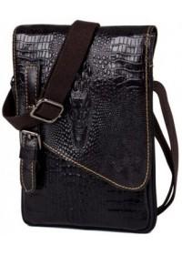Черная сумка на плечо с тиснением fr0501