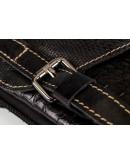 Фотография Черная сумка на плечо с тиснением fr0501
